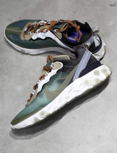 NIKE REACT ELEMENT x undercover green mist black